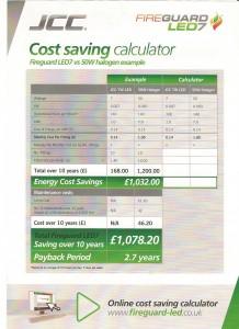 LED Cost saving calculator